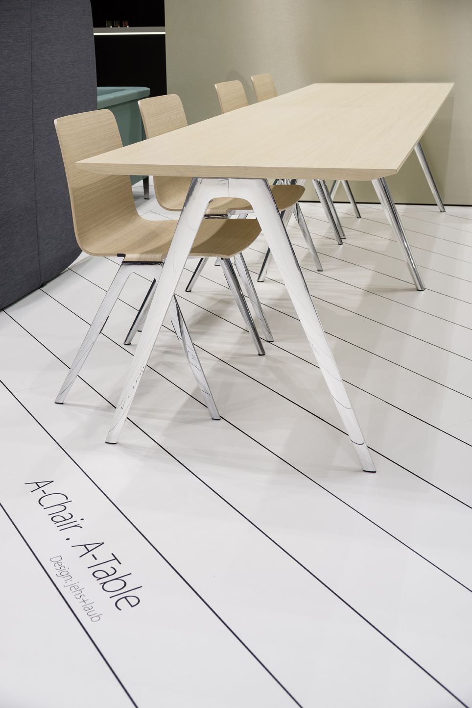Brunner A-Chair & A-Table at Orgatec 2014 Cologne http://www.brunner ...