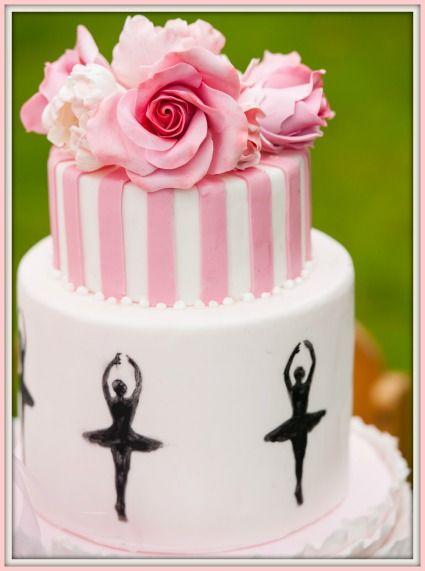 Ballerina Party Torte / Amazing Cake for a ballerina themed girls birthday party - www.decorize.de/blog