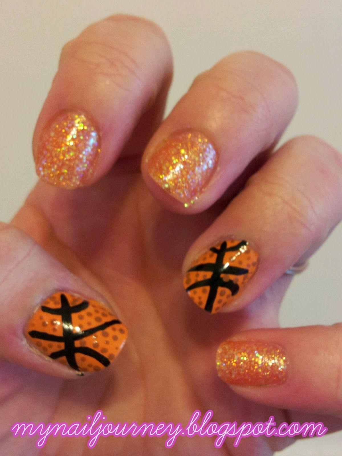 Basketball Nails   Nails   Pinterest   Basketball nails, Cosmetology ...