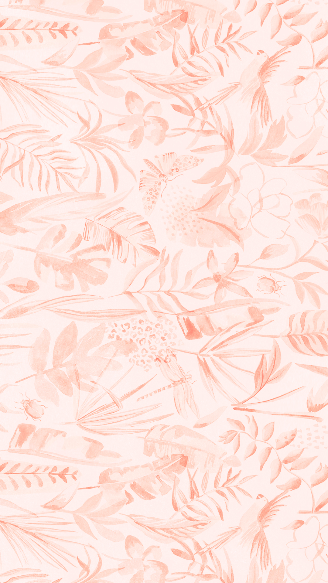 Blush Pink Floral Wallpaper For Your Mobile Cell Phone Tablet Or