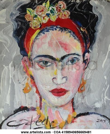 Retrato de Frida, Oscar Capeche. See more at Artelista, http://oscarcapeche.artelista.com/