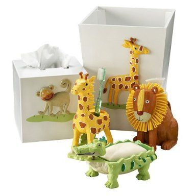 Kidu0027s Safari Bathroom Accessories