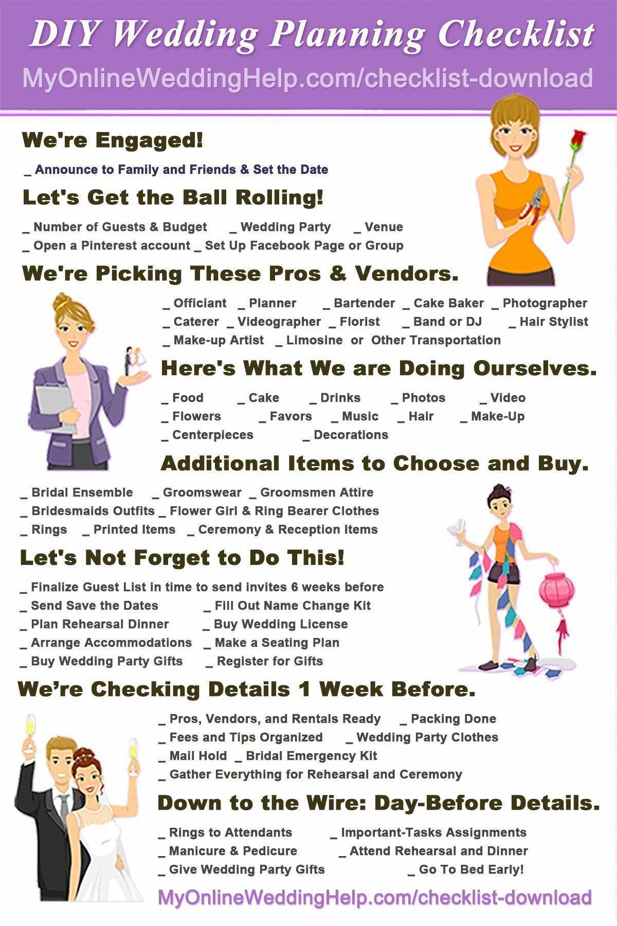 Free Printable Wedding Checklist Unlike Other Check Lists