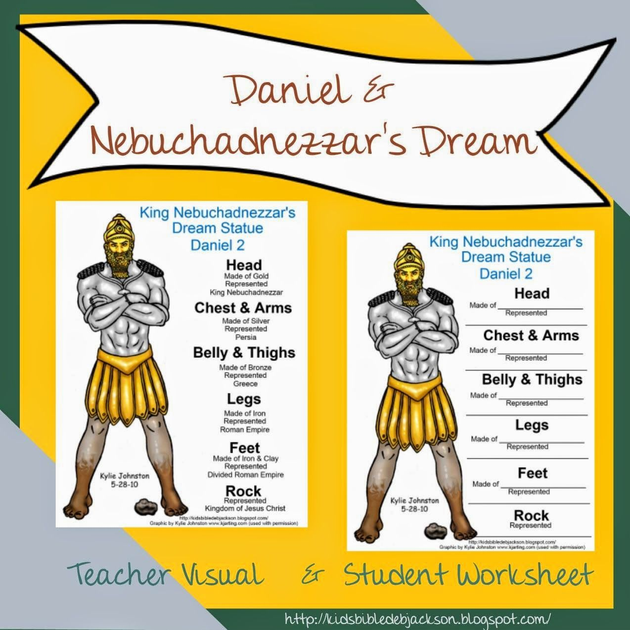 Bible Lesson and FREE Printable: Daniel & Nebuchadnezzar\'s Dream ...