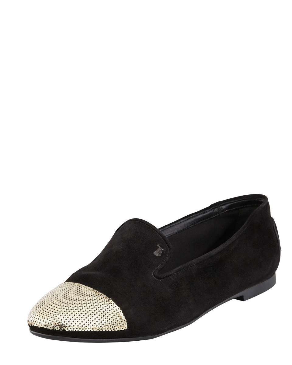 411d96f80da Love the Tod s Sequin Cap-Toe Suede Smoking Slipper on Wantering ...