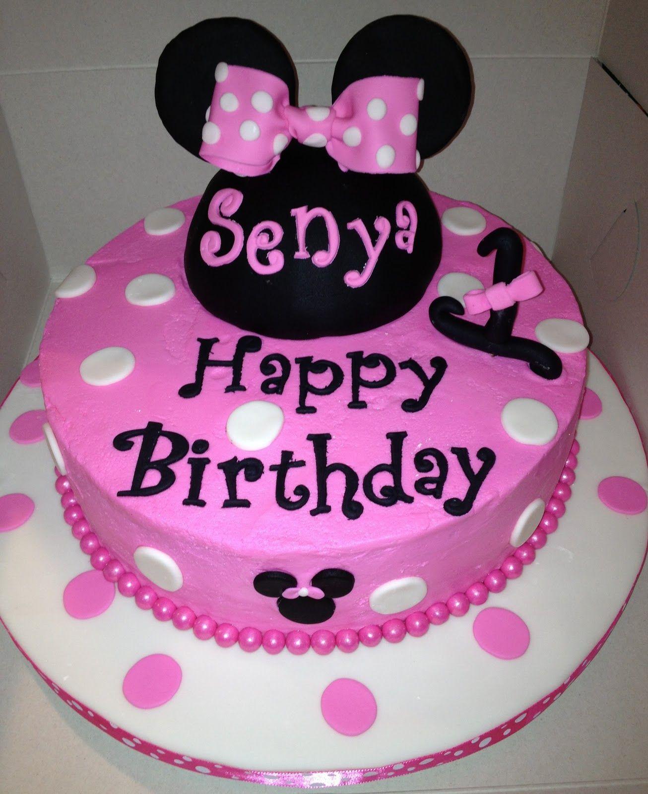 Minnie Mouse Birthday Minnie mouse birthday cakes, Happy