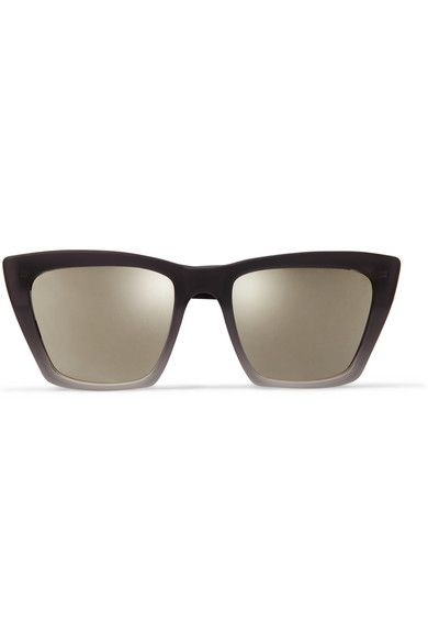 Prism Woman Cat-eye Acetate And Gold-tone Mirrored Sunglasses Gold Size Prism vnzlf