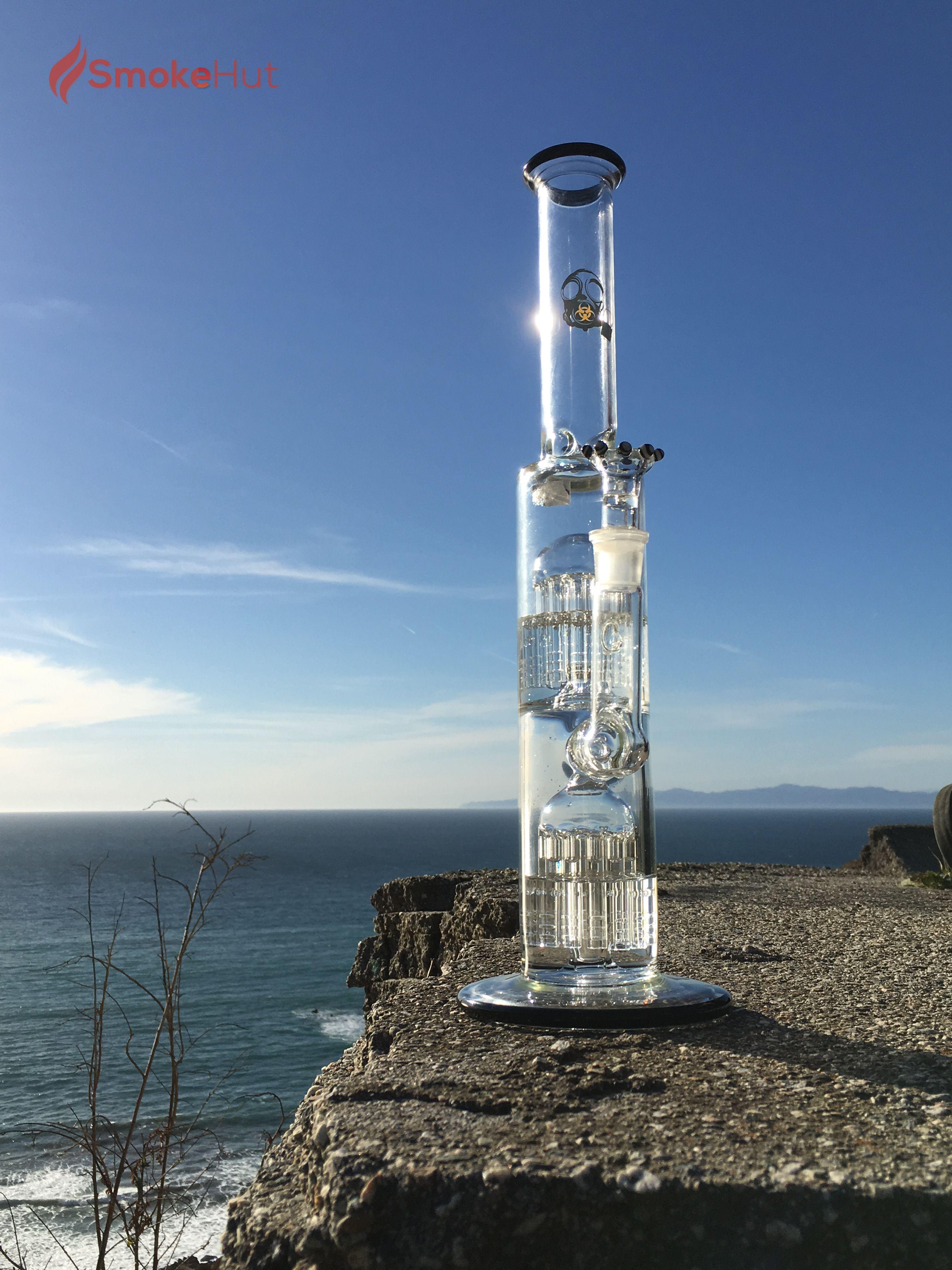 Biohazard Double Percolator Bong Cheap Glass Bongs And