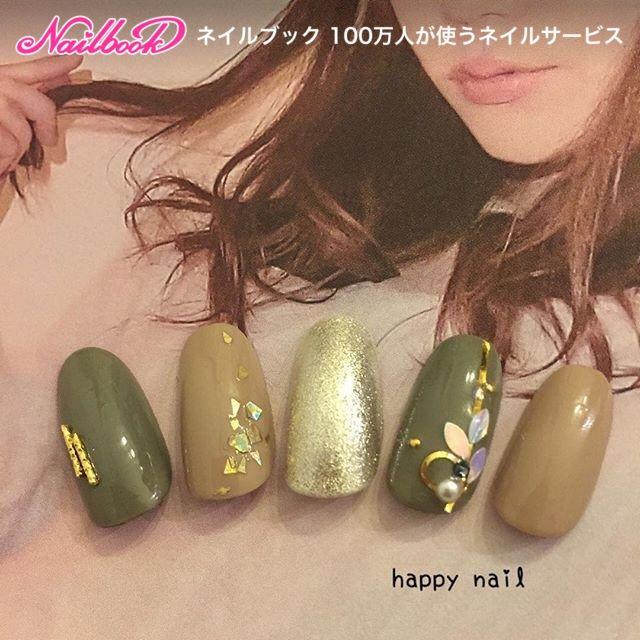 秋/パーティー/デート/女子会/ホログラム , happy_nailのネイル