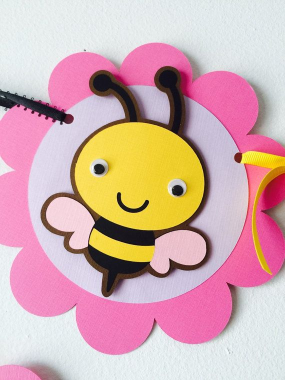 Bumble Bee Birthday Banner by creationsbychoco on Etsy