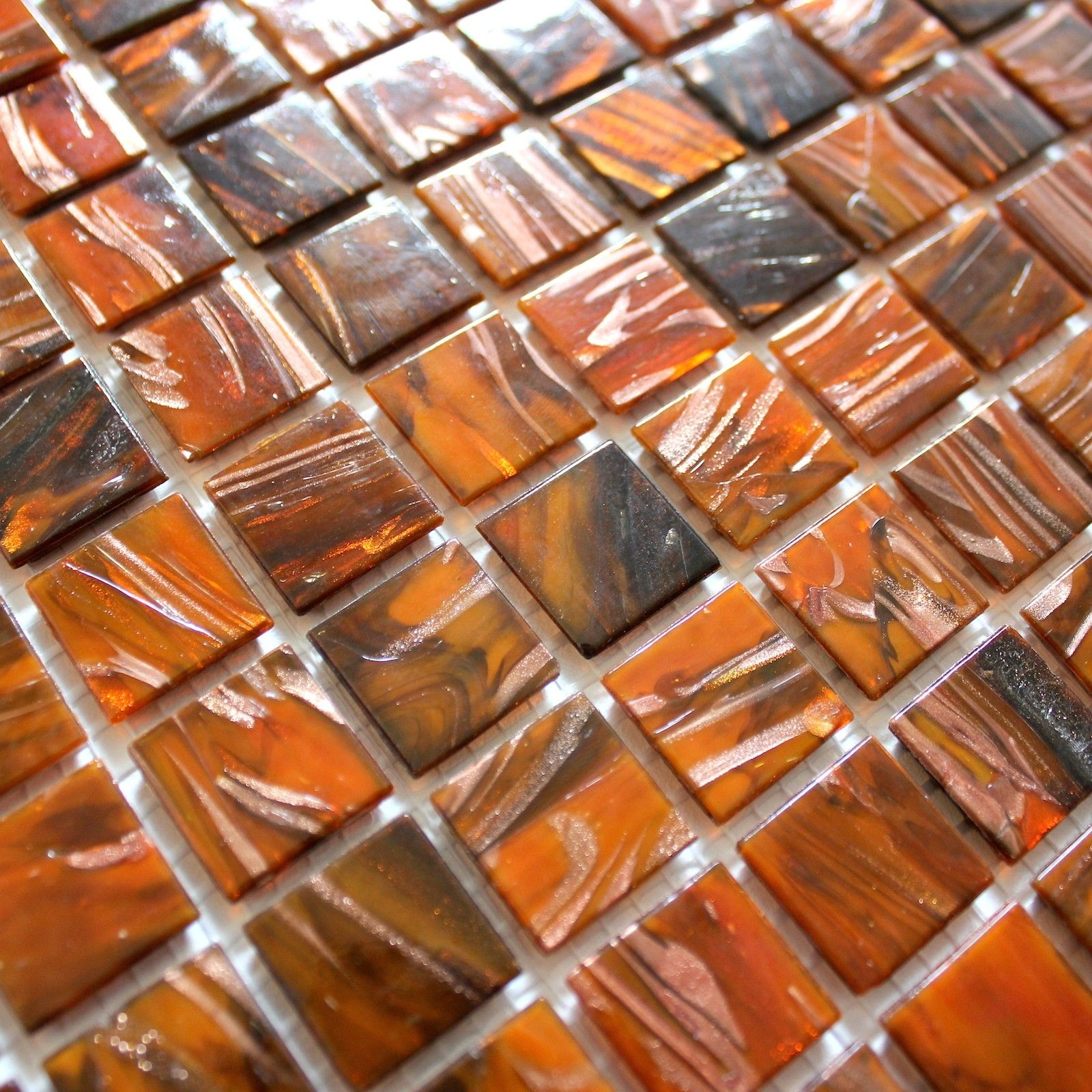 Mosaique Pate De Verre Pour Salle De Bain Et Douche Vitro Orang