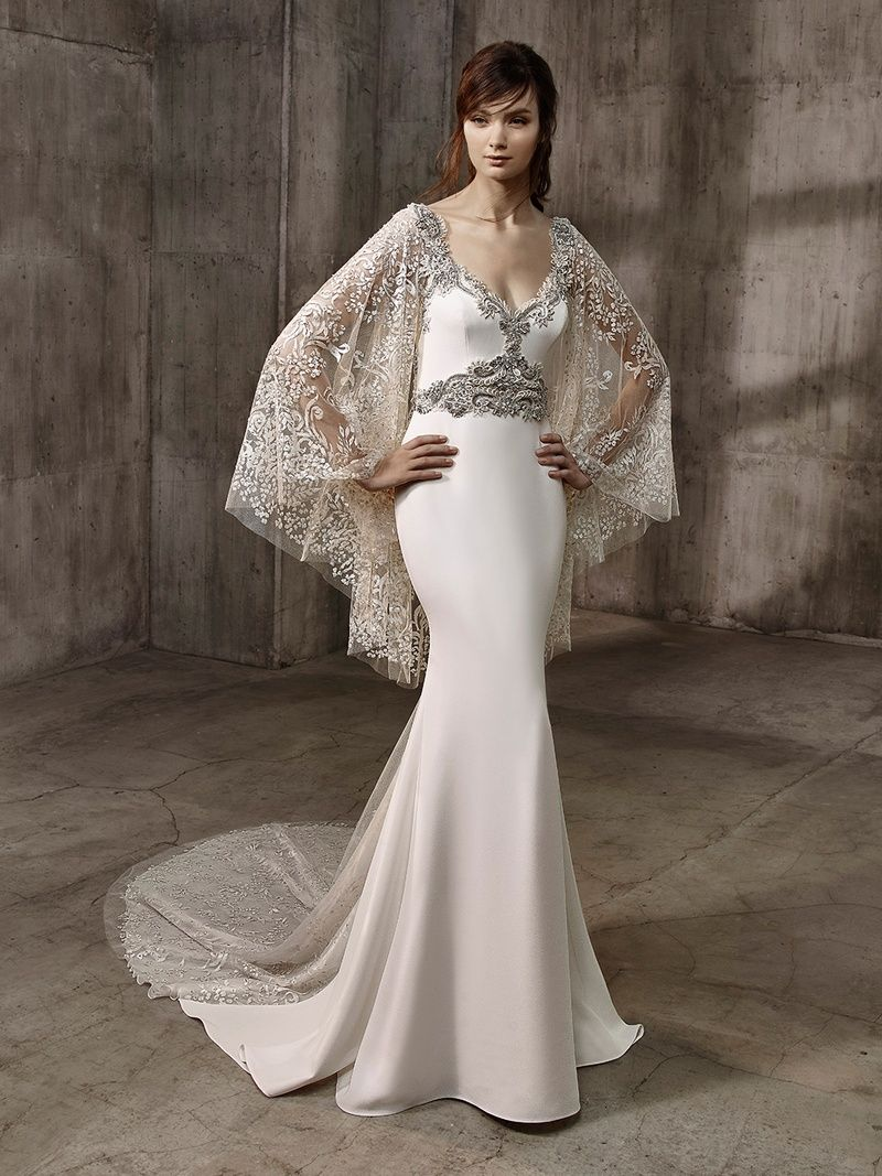 See formfitting gowns with elegant beading u illusion details