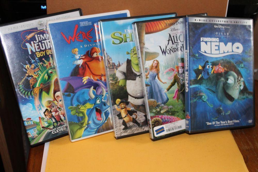 1d913b4caa DVD Lot - Jimmy Neutron FINDING NEMO Alice in Wonderland SHREK We're Back
