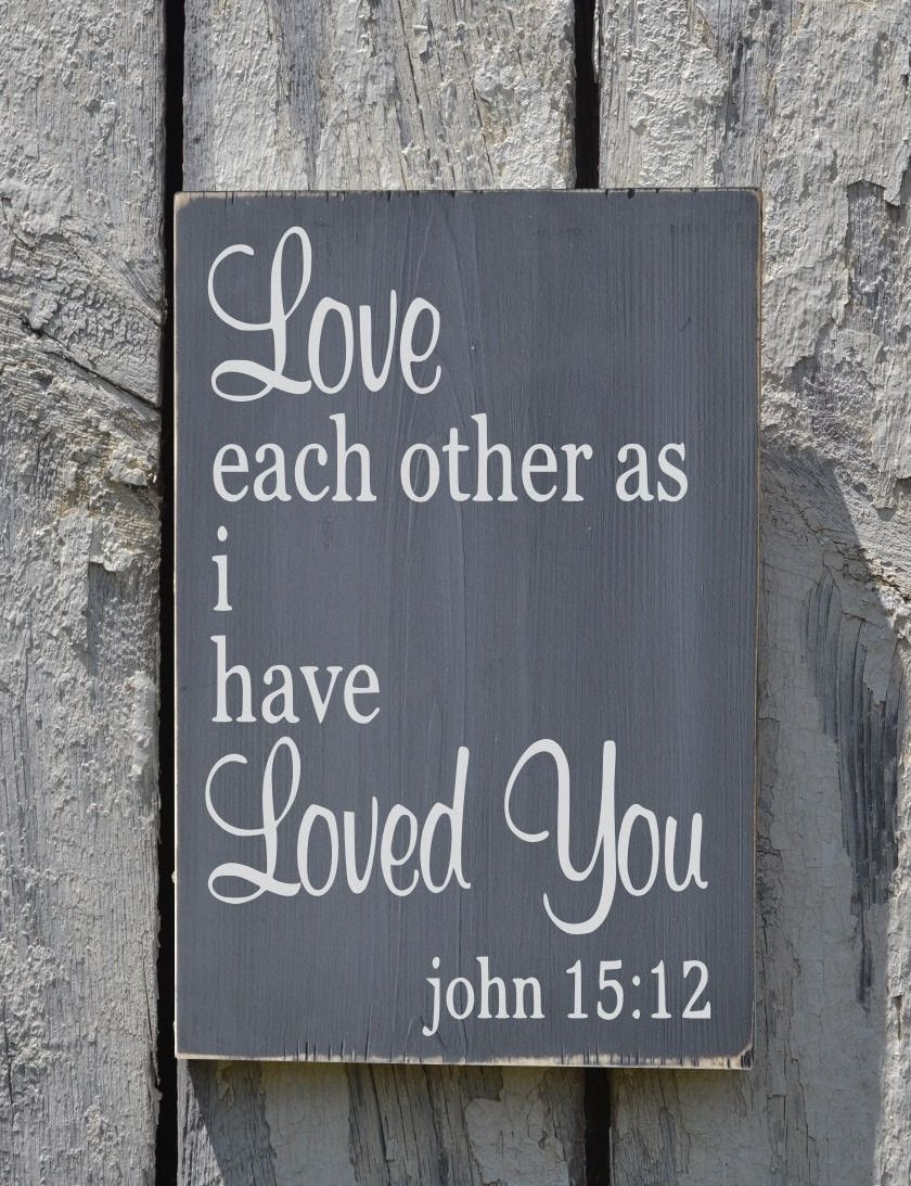 Wedding Sign Family Scripture Signs Religious Bible Verse Wood Wall