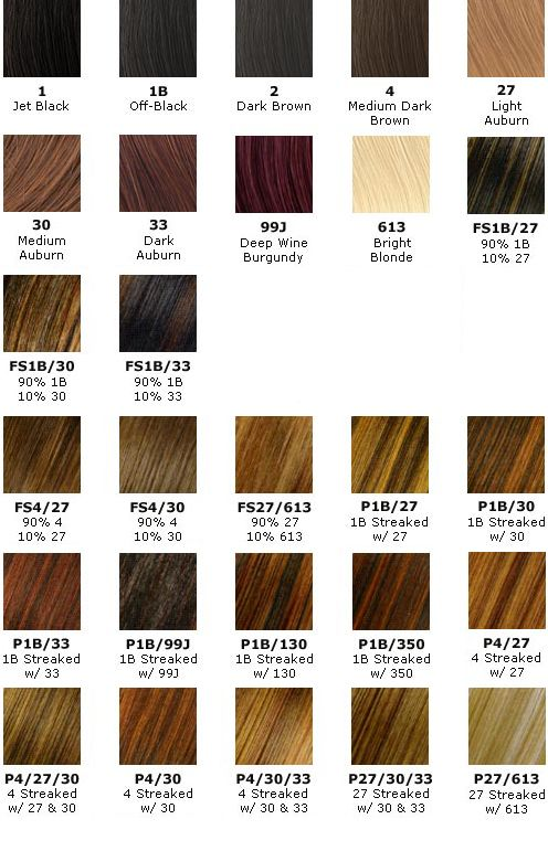 Hair Weave Color Chart Homeschoolingforfree