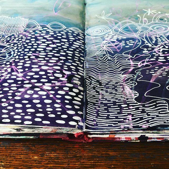 White Pen Over Watercolour Sketch Book Artist Sketchbook White Pen