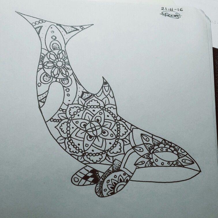 Killer Whale Mandala Tattoos Tattoos Whale Tattoos Orca Tattoo