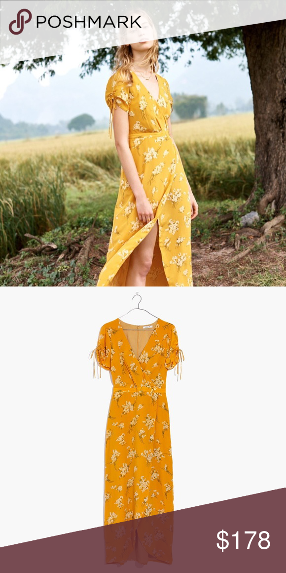 5531eef20d Madewell Silk Wrap Maxi Dress in Butterfly Garden Size 4. NWT. I LOVE this