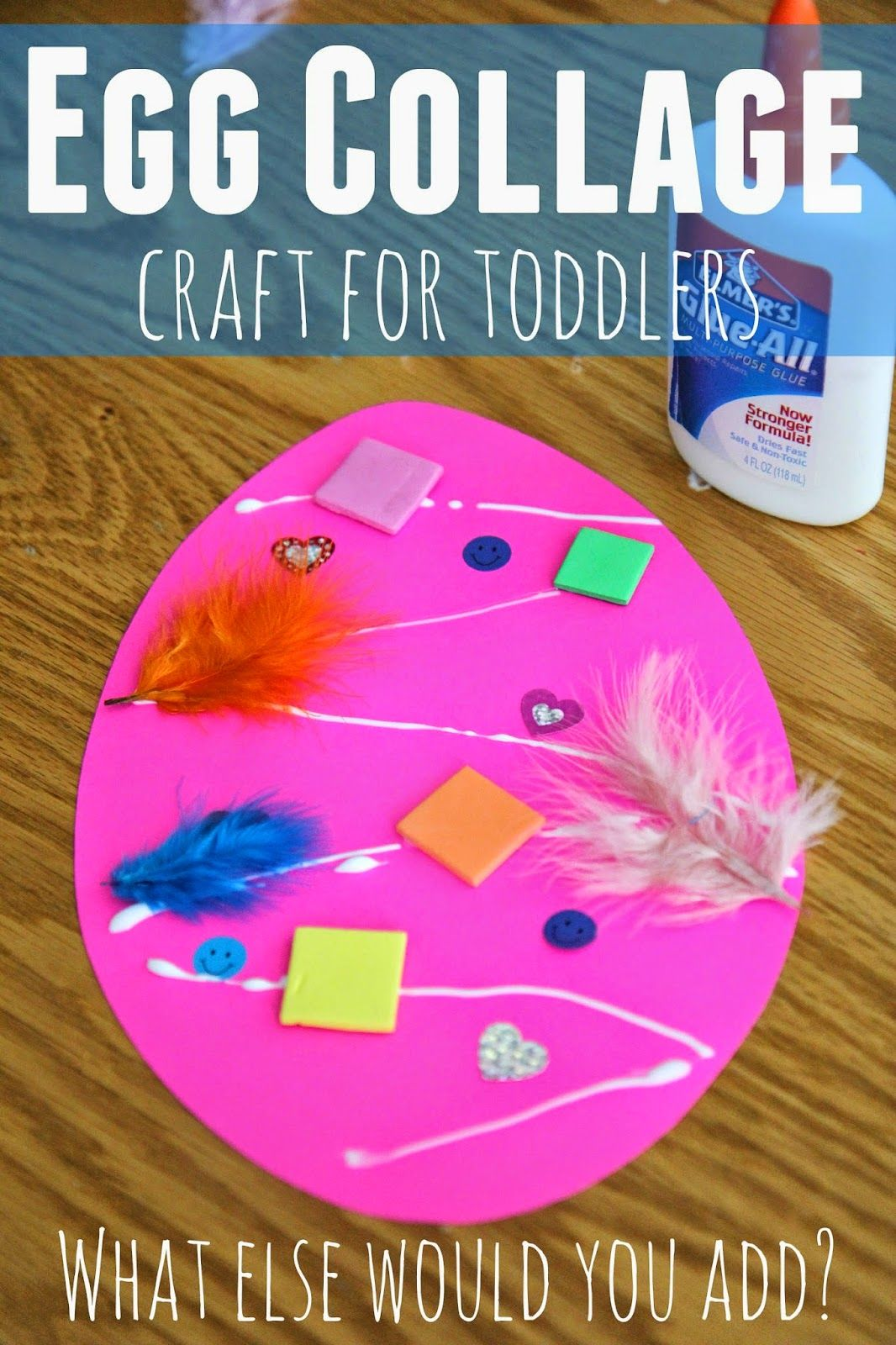 Easter egg collage craft for toddlers easter collage for Easter craft ideas for young adults