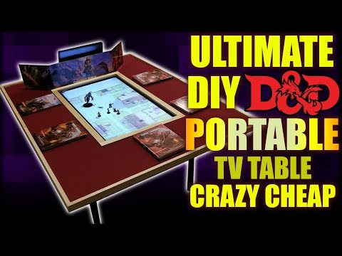 (1429) Cheap DIY Gaming TV Table THAT'S PORTABLE