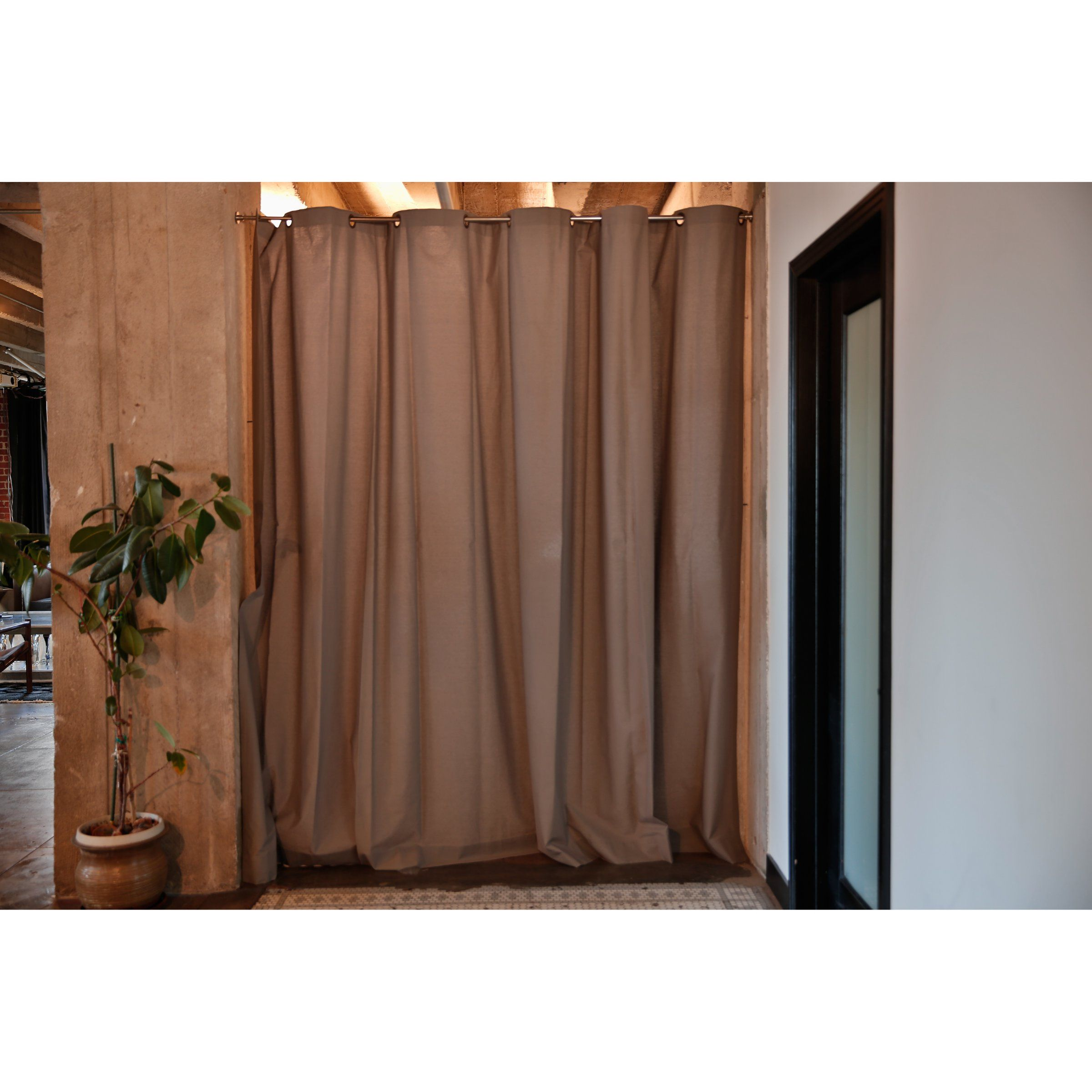 RoomDividersNow Khaki Fabric Curtain Room Divider Room Dividers at