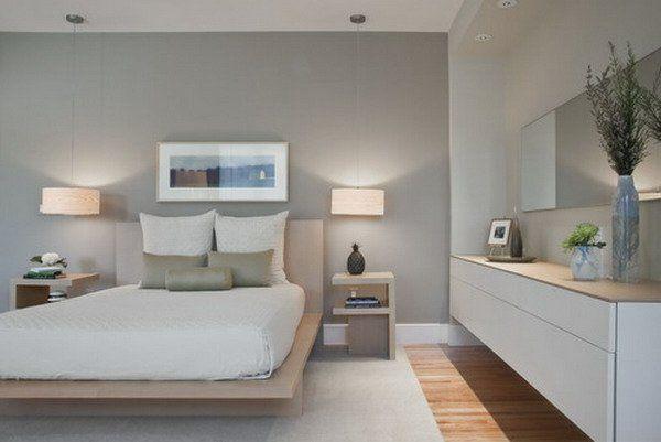 Graue Gestaltung Schlafzimmer Ideen (600×401)