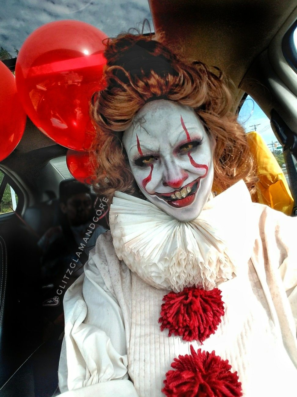 Female  pennywise costume inspired  halloween  it  stephenking  horror  diy   cosplay 27e4b6086ef