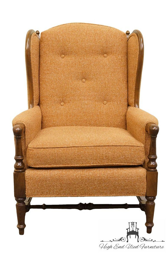 Groovy Ethan Allen Traditional Classics Wing Back Arm Chair Andrewgaddart Wooden Chair Designs For Living Room Andrewgaddartcom