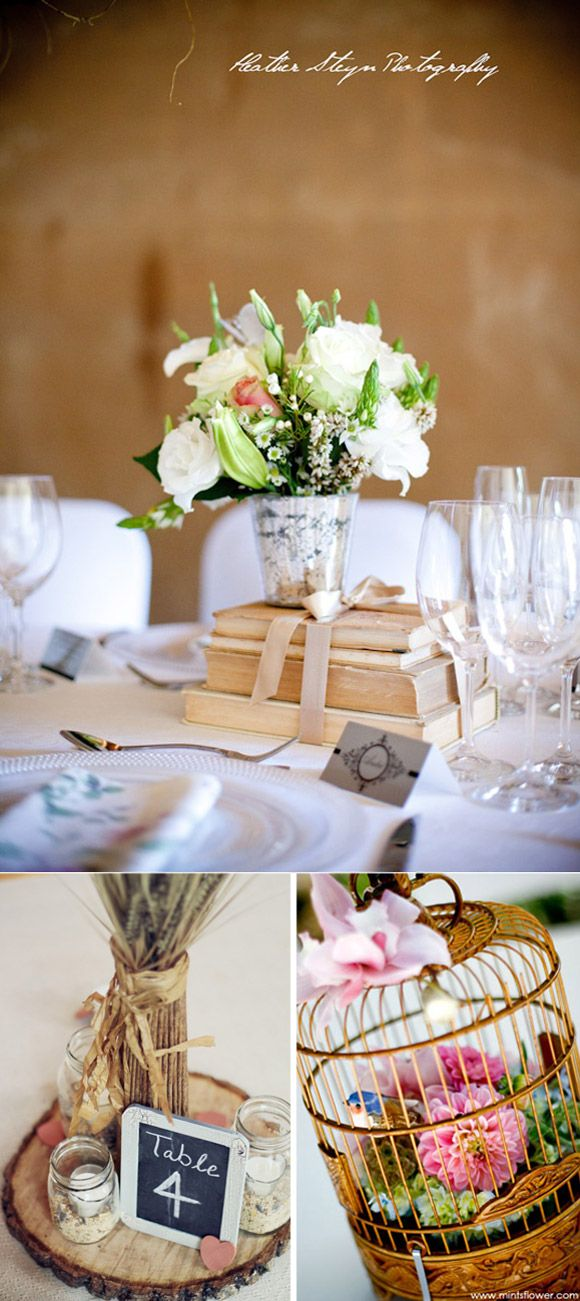 Centros de mesa originales para bodas manualidades pinterest wedding centerpieces wedding - Mesas centro originales ...
