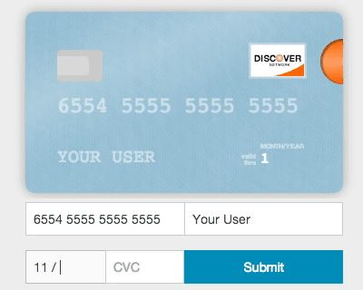 Card  Make Your Credit Card Form Better Jquery Creditcard Card