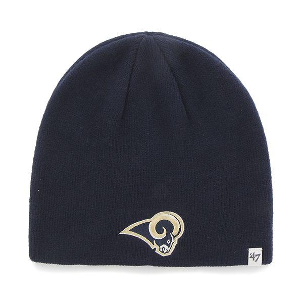 6c73ec290e1bd Los Angeles Rams Beanie Light Navy 47 Brand Hat