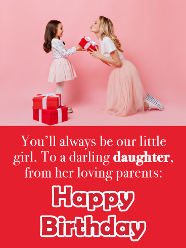Always My Little Girl Happy Birthday Card For Daughter From Parents Birthday Greeting Cards By Davia Happy Birthday Cards Birthday Greeting Cards Happy Birthday