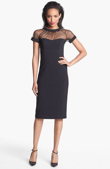 926d675c35d Maggy London Illusion Yoke Crepe Sheath Dress (Regular   Petite) available  at  Nordstrom