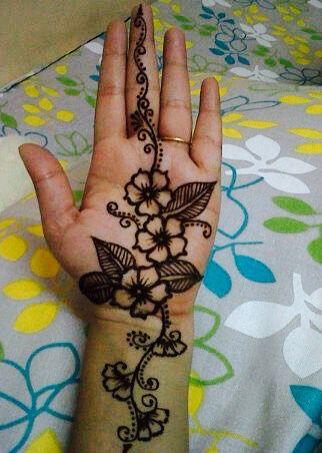 Front Side Front Finger Mehndi Design Simple