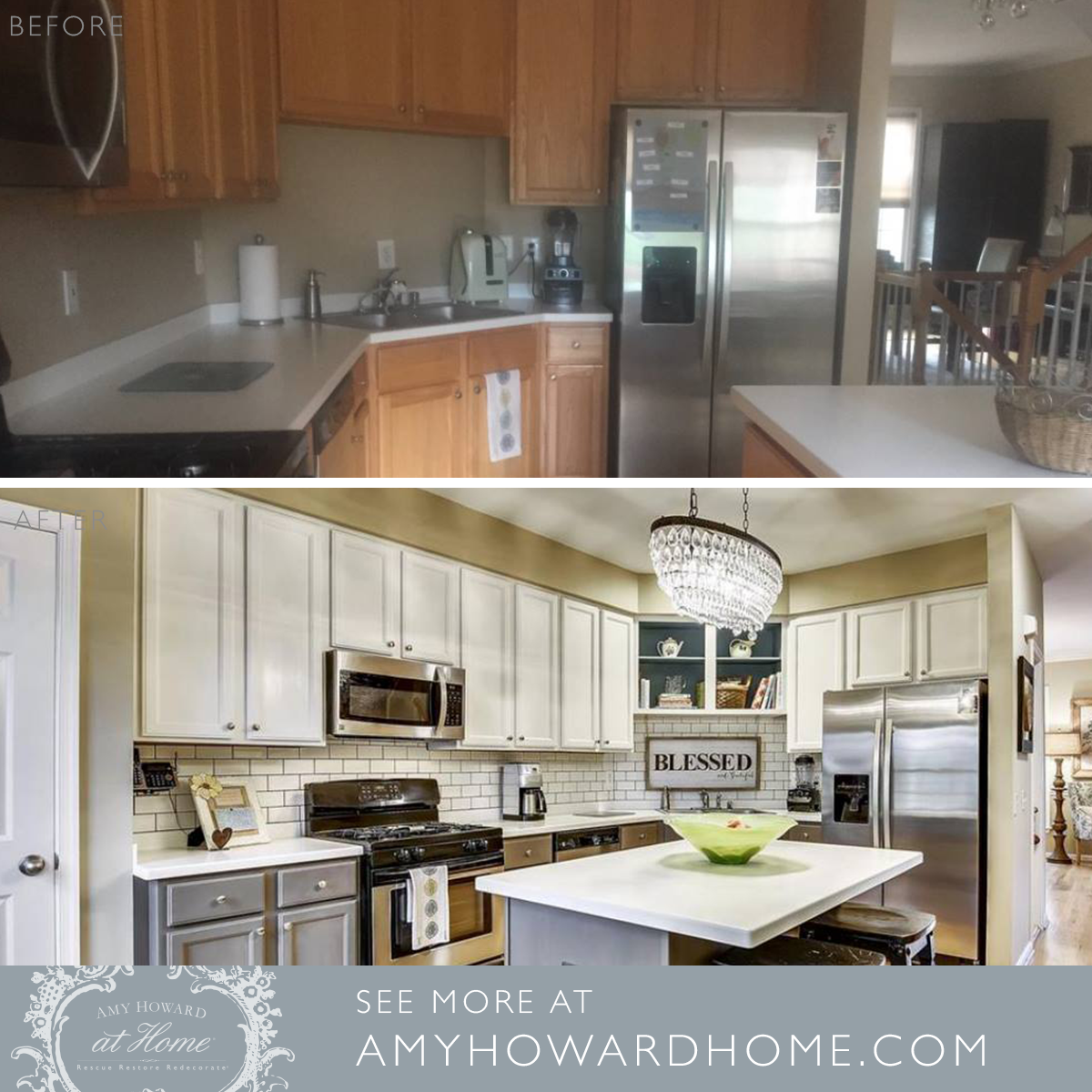 This Kitchen Makeover Helped Her Sell A House Realtors Told Us The Kitchen Was Exceptional In Our Mark Refinishing Cabinets Cabinet Refinish Kitchen Cabinets