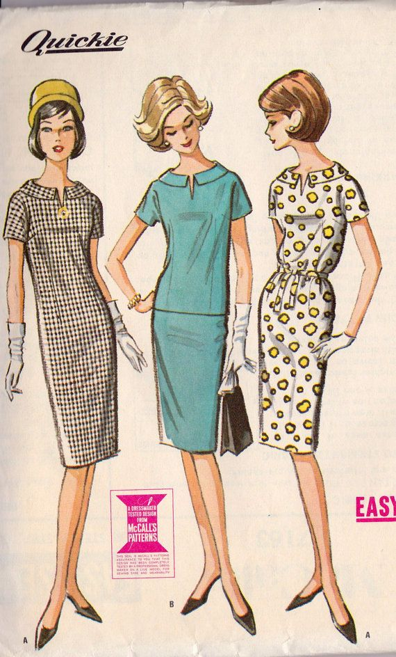 1960s Misses Dress or Top and Skirt Vintage