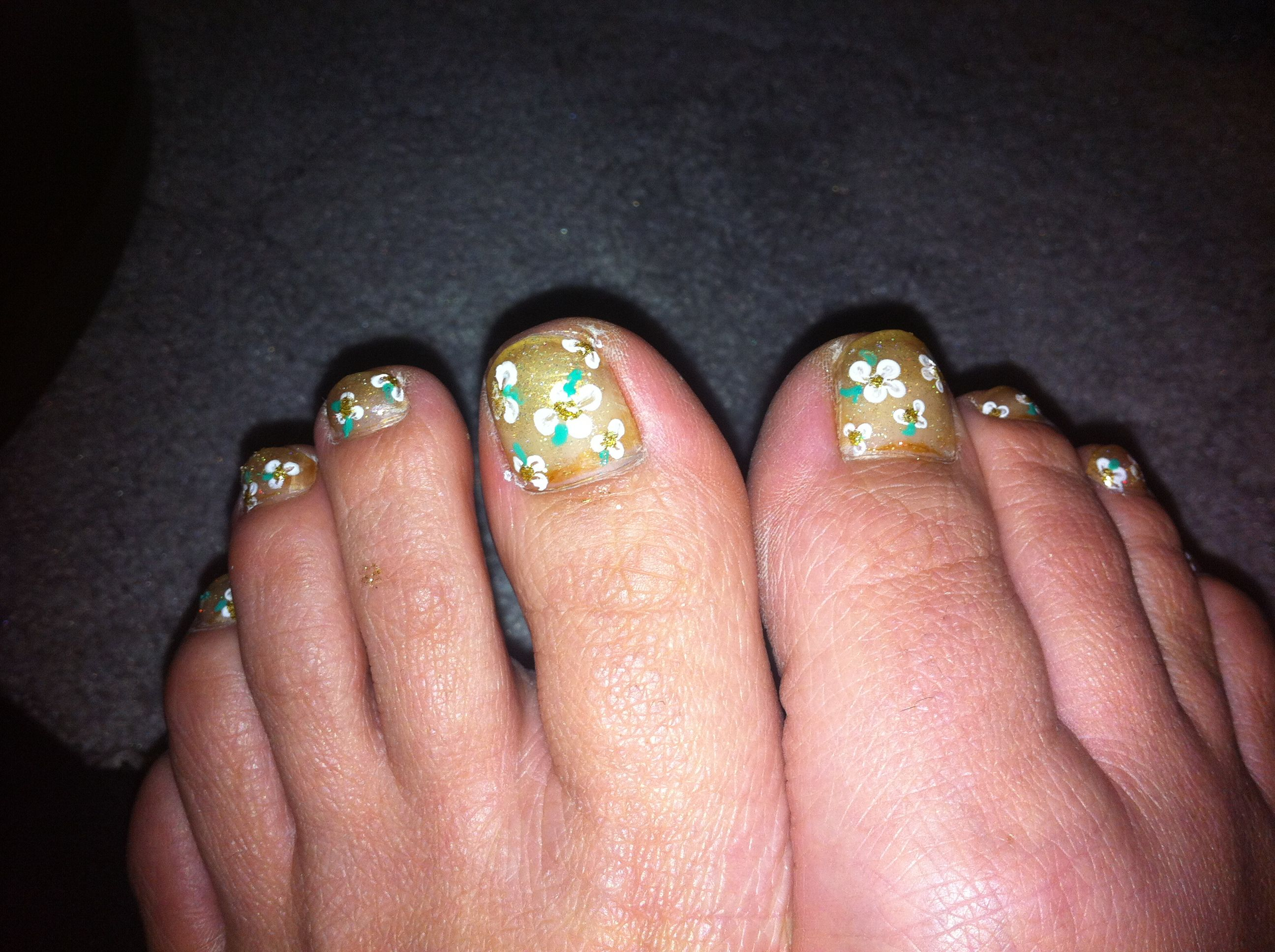 Summer French and fancy toes