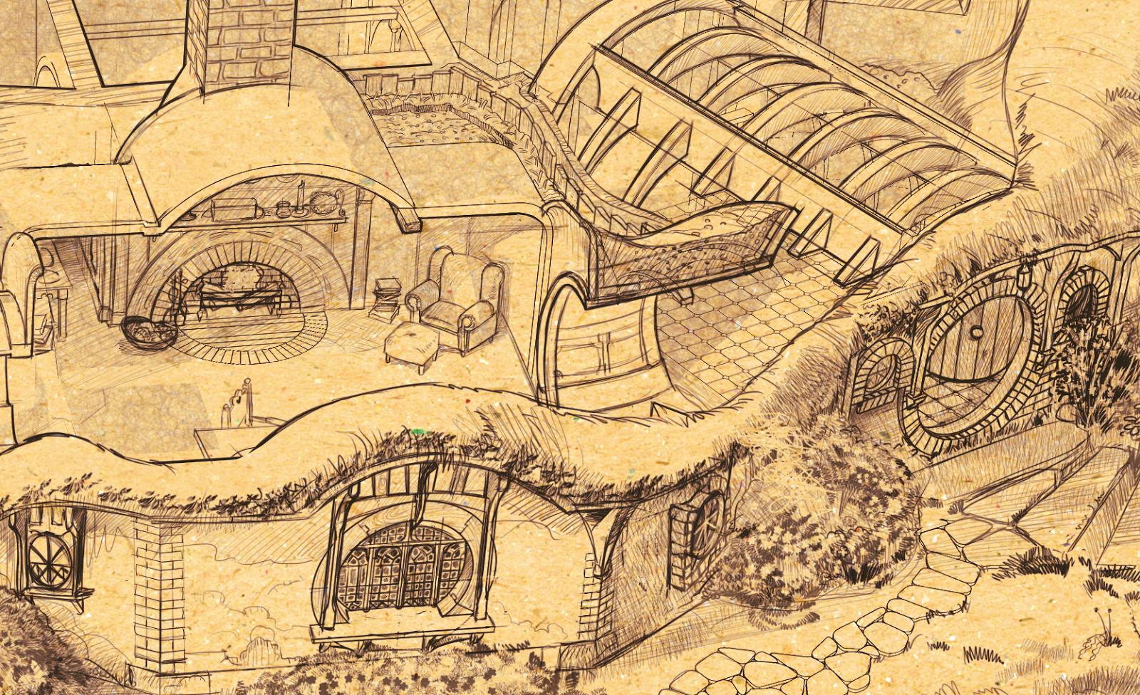 - La casa de los hobbits ...