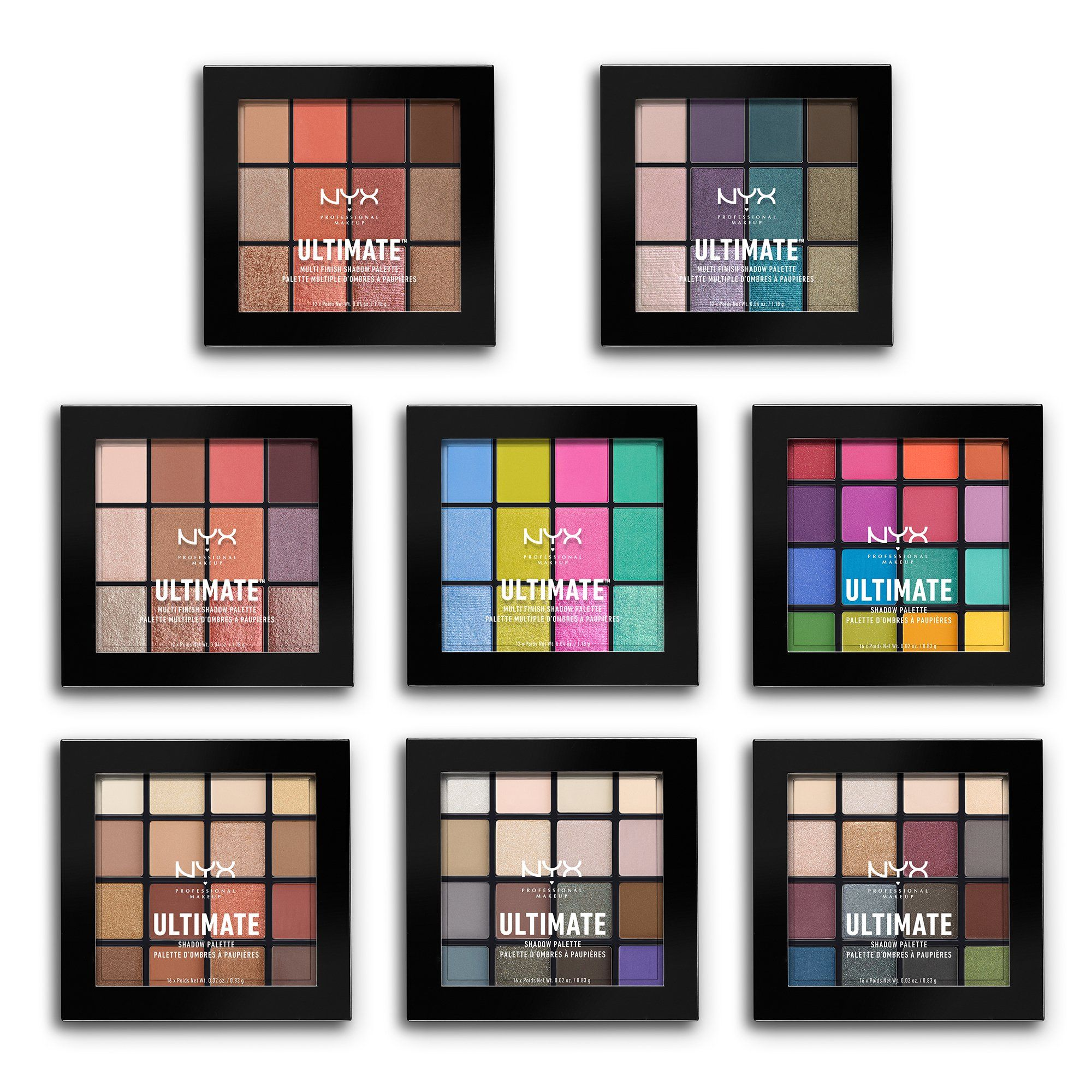 NYX Professional Makeup Ultimate Shadow Palette, Warm