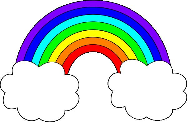 rainbow with clouds clip art emmaus pinterest clip art rh pinterest com
