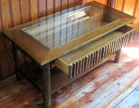 Hickory Showcase Coffee Table Coffee Table Display Coffee Table Table
