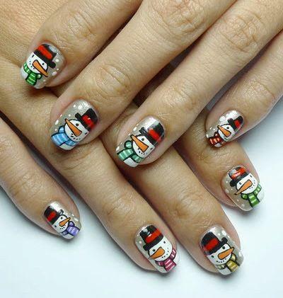 Apply Different Christmas Nail Art Ideas Love Nails Pinterest