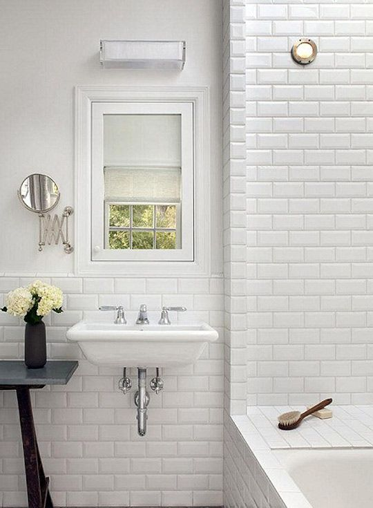 10x20cm Metro White Bevelled Brick Tile By Fabresa Tiles