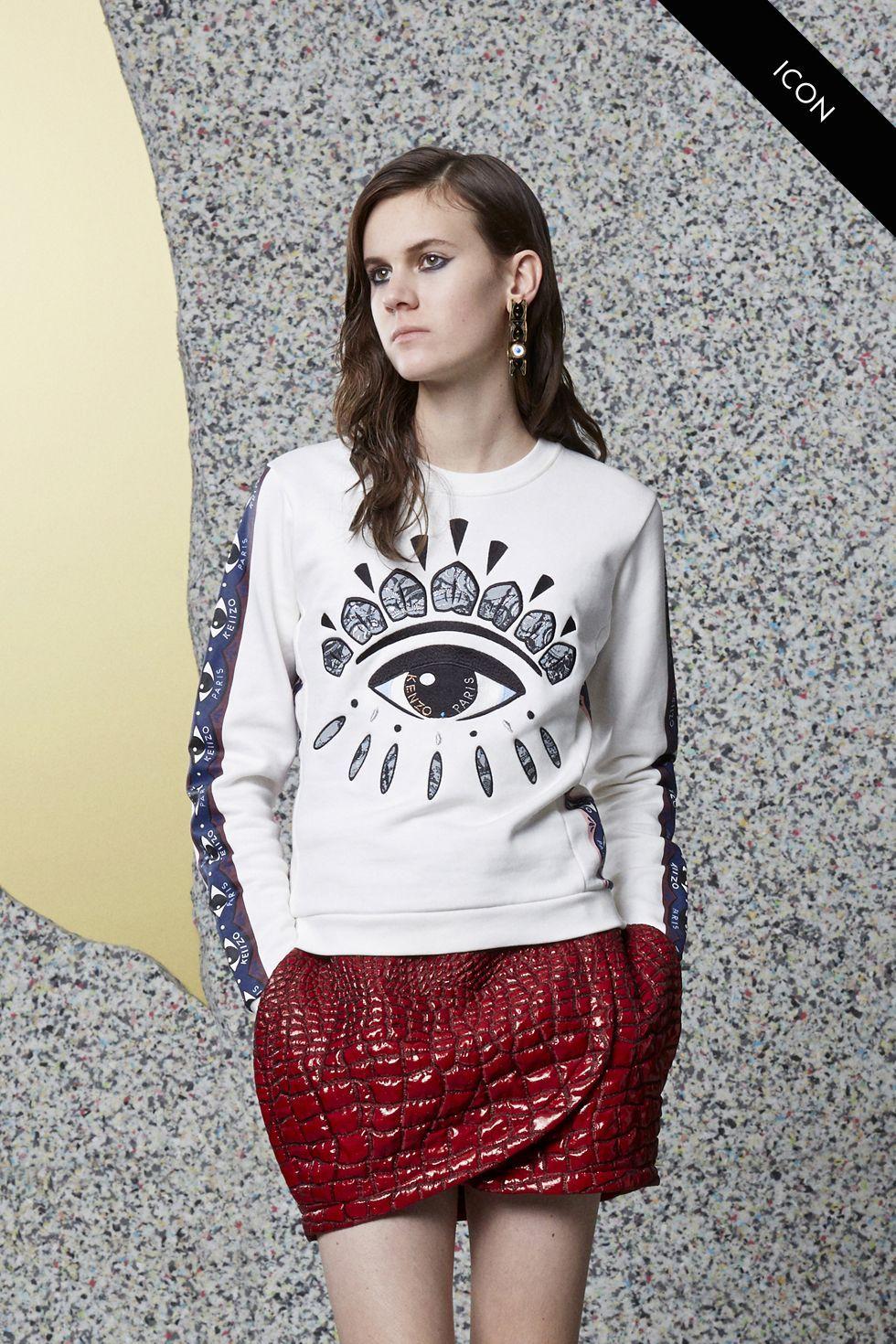 8c6fec8490a Kenzo Eye Sweatshirt - Kenzo Eye Women - Kenzo E-shop | Eyes AW13-14 ...