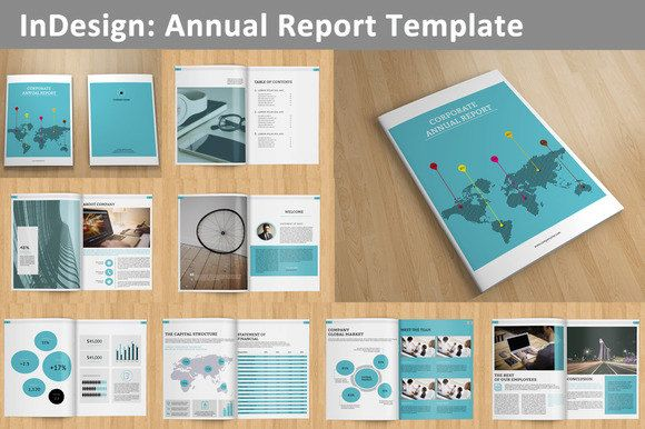 InDesign Annual Report Template Pages V Annual Reports - Indesign template brochure