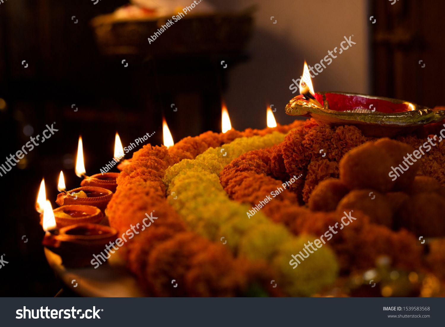 Happy Diwali Clay Diya Lamps Lit During Dipavali Hindu Festival Of Lights Celebration Colorful Tradition Diya Lamp Festival Lights Hindu Festival Of Lights