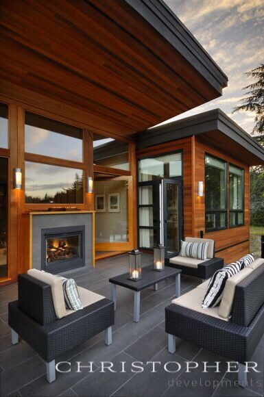 A West Coast Contemporary Home Designed And Built By Christopher Developments Victoria Bc Contemporary House Contemporary Patio Contemporary House Design