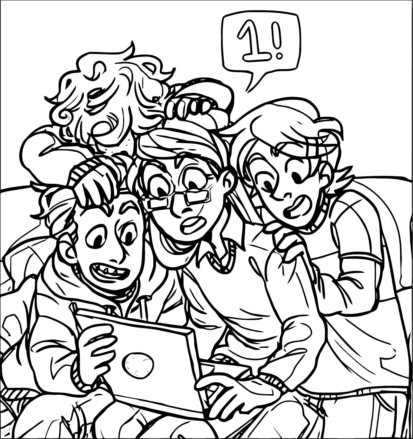 Supernoobs Notebook Coloring Page
