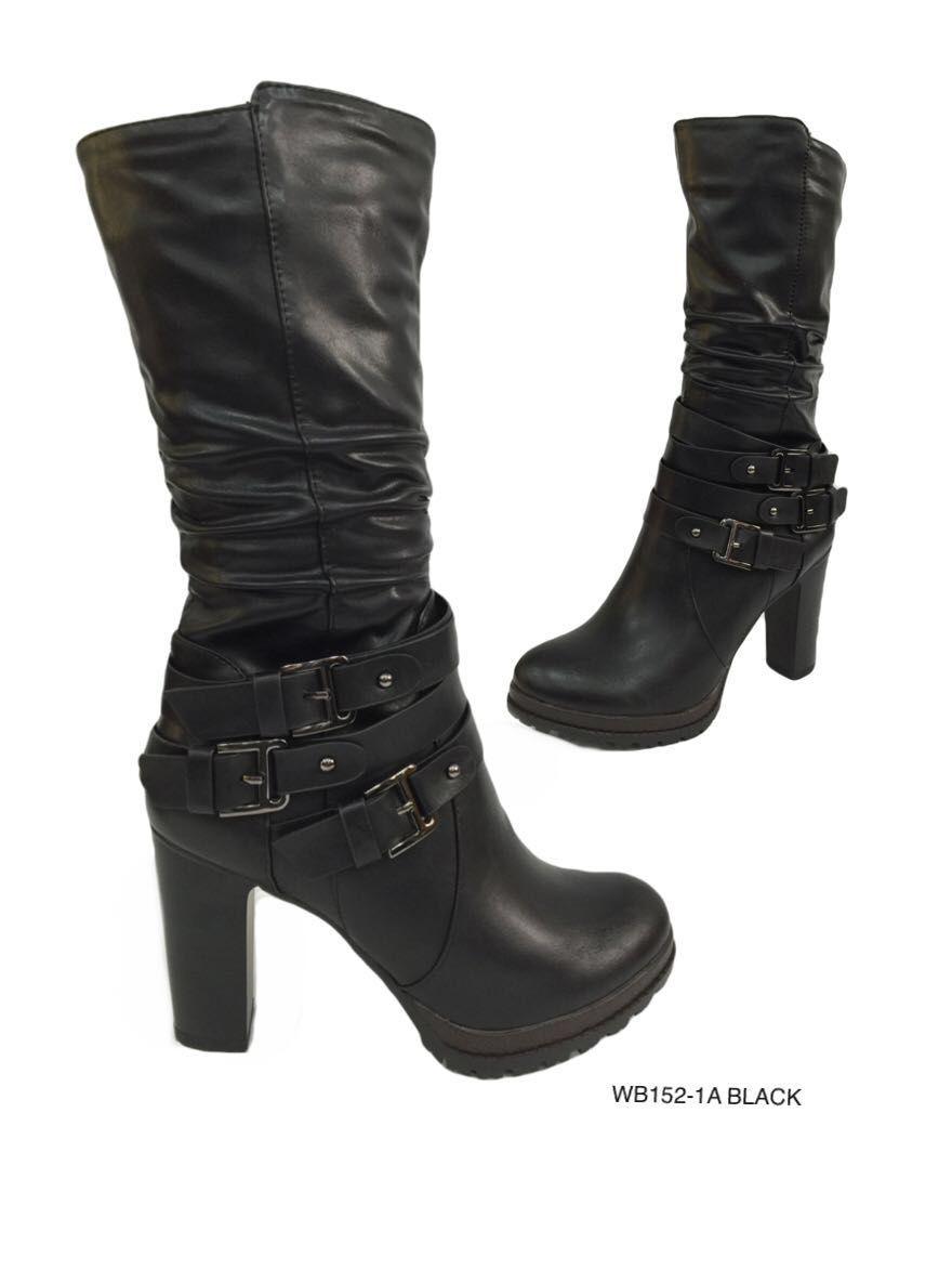 Las mujeres botas grises cremallera y tacón de 9cm - 40 vic96O