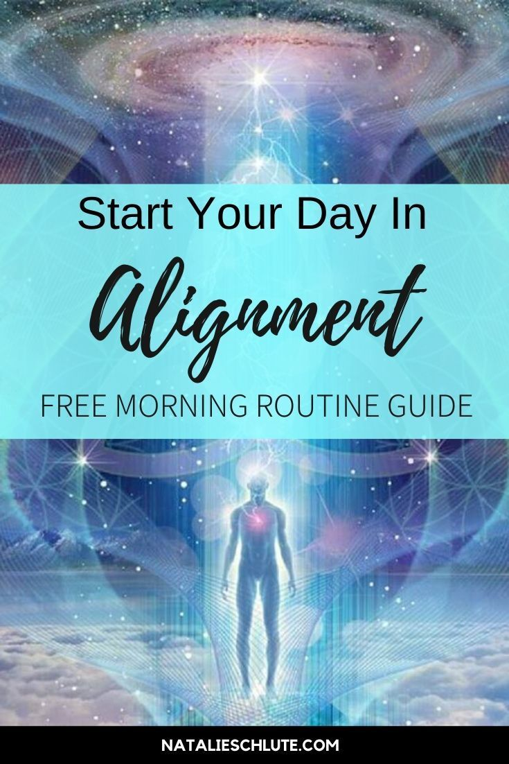 Aligned Morning Routine | Morning routine guide, Morning ...